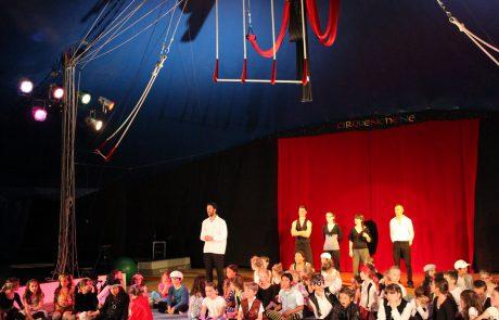 Cours de l'école de cirque cirquenchêne à Genève